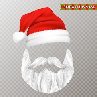Máscara de natal transparente de papai noel