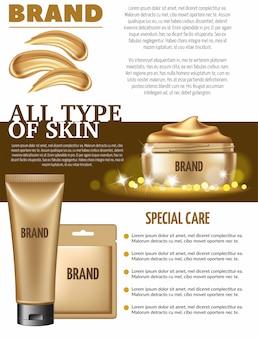 Máscara de ouro cosmética e esfoliação.