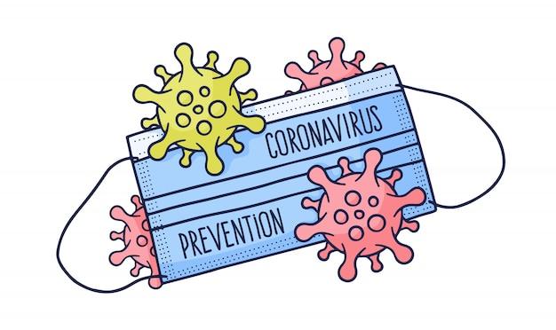 Máscara de proteção médica covid 19 coronavirus