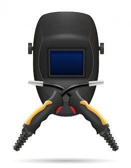Máscara de proteção para soldadores e equipamentos para soldagem a gás