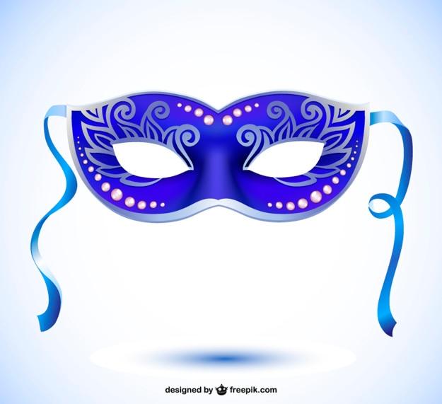 Máscara de vetor estilo carnaval