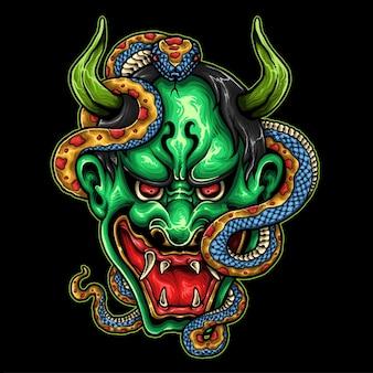 Máscara demoníaca japonesa