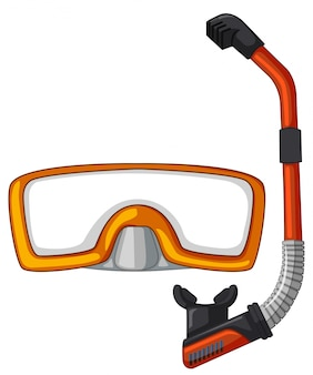 Máscara e snorkel para mergulho