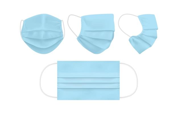 Máscara facial azul isolada