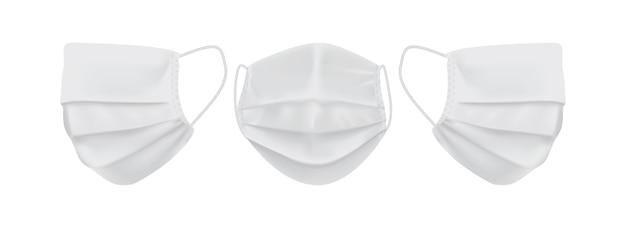 Máscara facial branca isolada no fundo branco