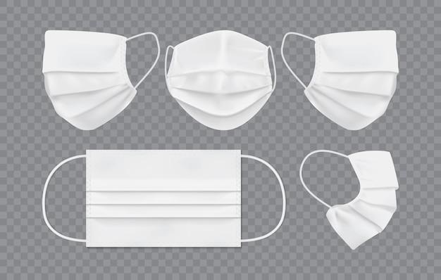 Máscara facial branca isolada