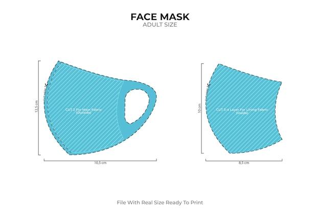 Máscara facial de costura caseira para adultos