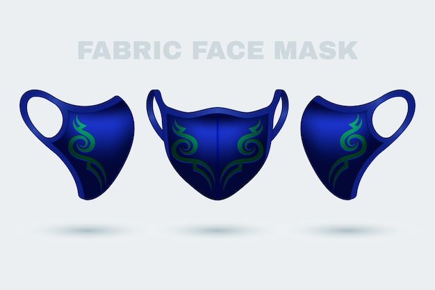 Máscara facial de tecido realista