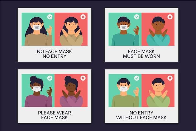 Máscara facial necessária