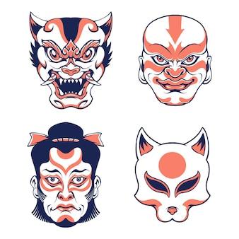 Máscara japonesa fofa
