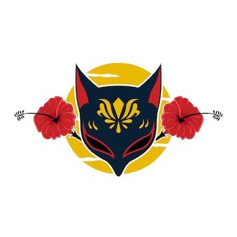 Máscara kitsune japonesa
