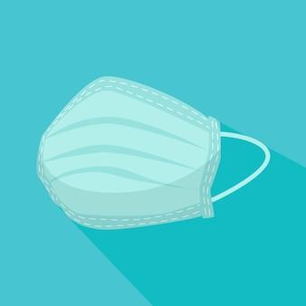 Máscara médica em design plano