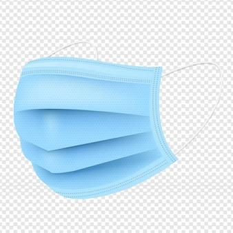 Máscara médica fundo transparente