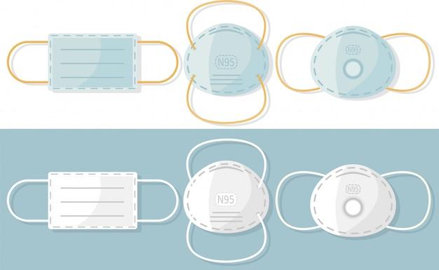 Máscara médica n95. máscara respiratória de proteção.