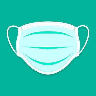 Máscara médica plana ilustrada