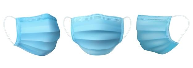 Máscara médica, proteção antiviral e antibacteriana
