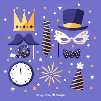 Máscaras bonitos para festa de feliz ano novo