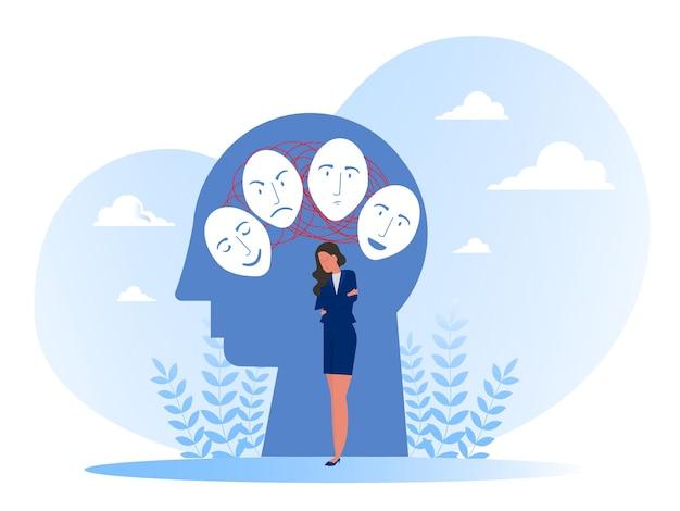 Máscaras com expressões alegres ou tristes