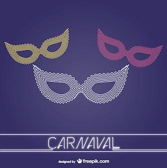 Máscaras de carnaval vetor