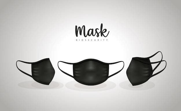 Máscaras médicas pretas