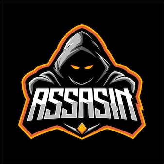 Mascot do logotipo do assassino ninja