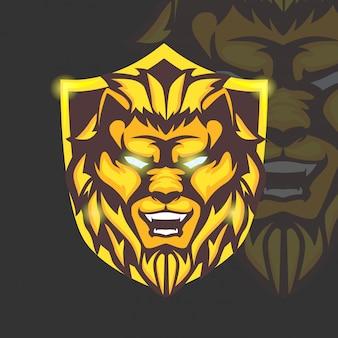 Mascot sport logo jogo de jogo animal angry