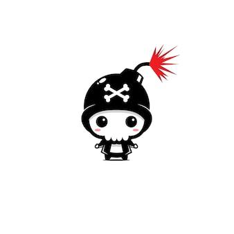 Mascote bomba crânio