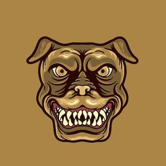 Mascote cabeça de cachorro