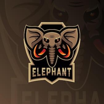 Mascote cabeça de elefante