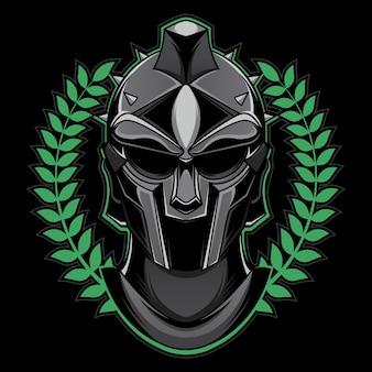Mascote cabeça de gladiador