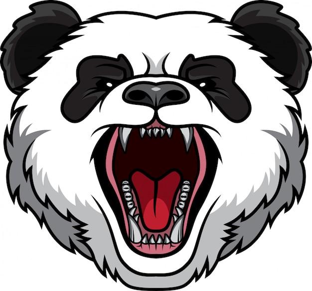 Mascote cabeça de panda