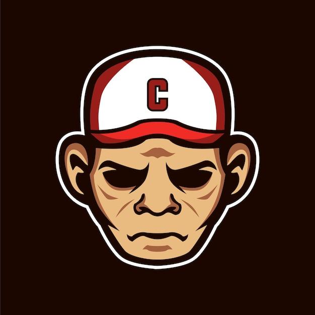 Mascote capitão esportes logotipo