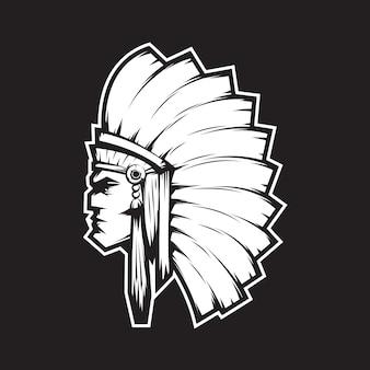 Mascote chefe indiano