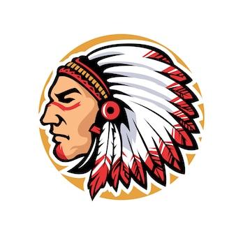 Mascote chefe índio