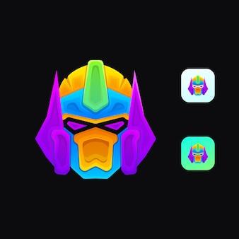 Mascote colorido dos transformadores