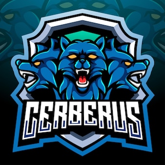 Mascote da cerberus. design do logotipo esport