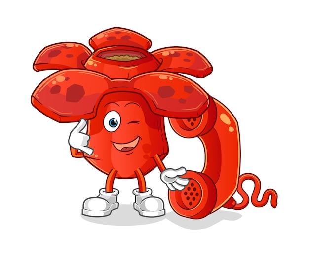 Mascote da chamada de rafflesia. mascote dos desenhos animados