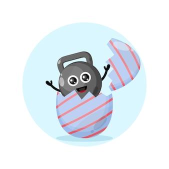Mascote da personagem fofinha do ovo da páscoa kate ball