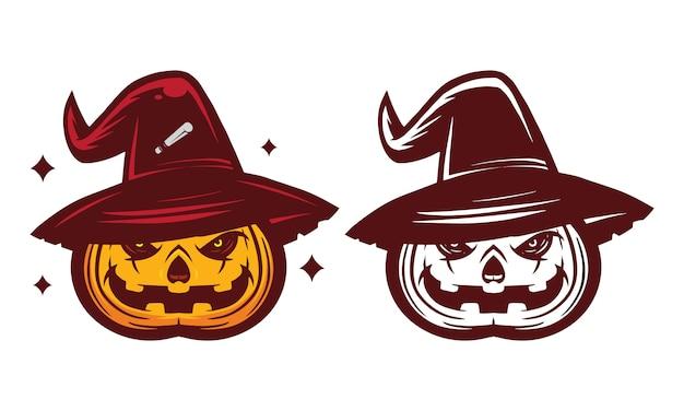Mascote de abóbora de halloween