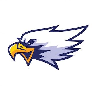 Mascote de águia vector design de logotipo