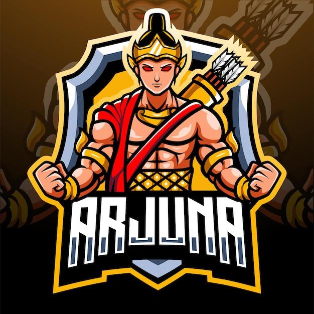 Mascote de arjuna. design do logotipo esport