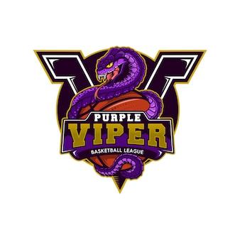 Mascote de basquete viper