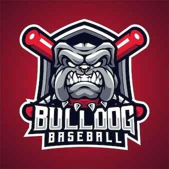 Mascote de beisebol bulldog