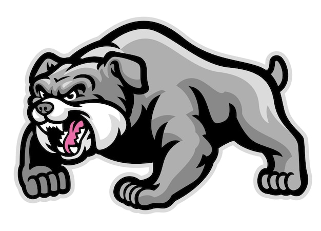 Mascote de bulldog músculo