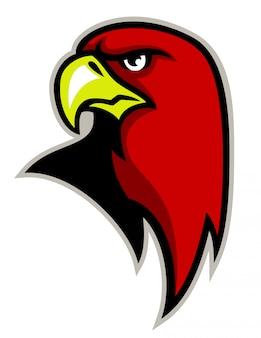 Mascote de cabeça de águia