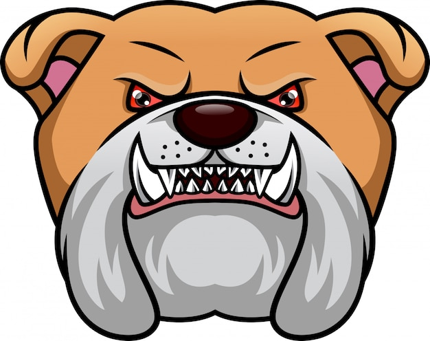 Mascote de cabeça de bulldog inglês