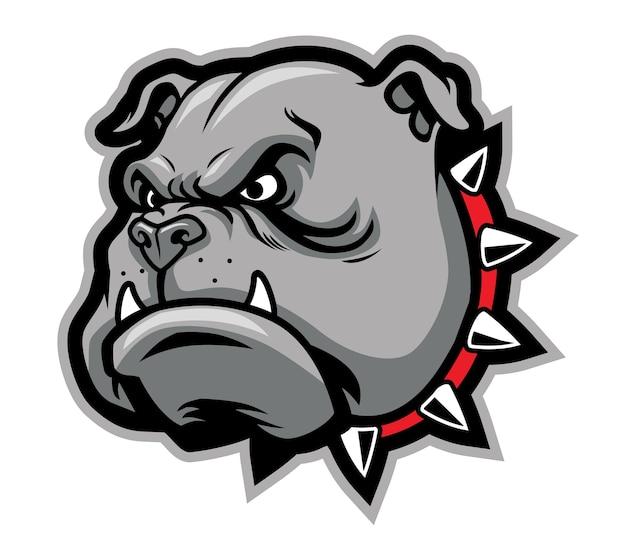 Mascote de cabeça de bulldog