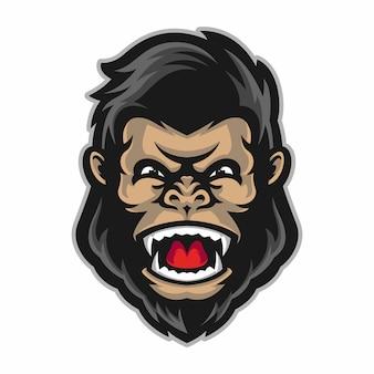 Mascote de cabeça de gorila