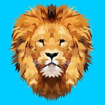 Mascote de cabeça de leão