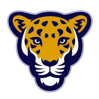 Mascote de cabeça de leopardo